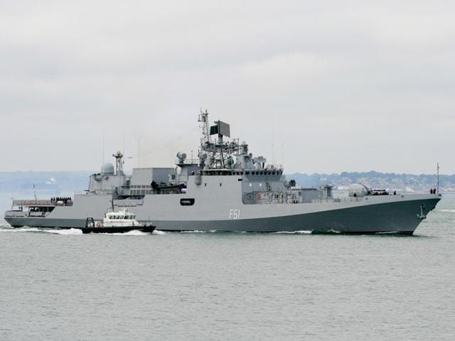 Indian Navy frigate INS Trikand based on the Russian Krivak III class. Reliance Defence is set to enter into an agreement with Russian United Shipbuilding Company (USC) to build four frigates for the Indian Navy.