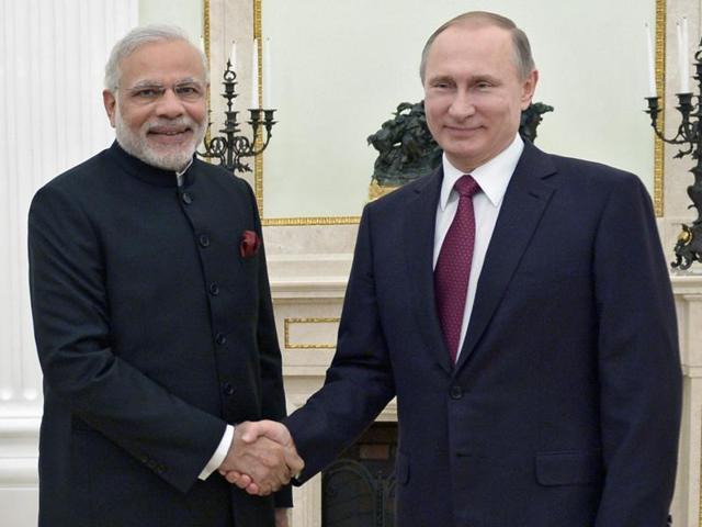 PM Narendra Modi,Russian President Vladimir Putin,Modi in Russia