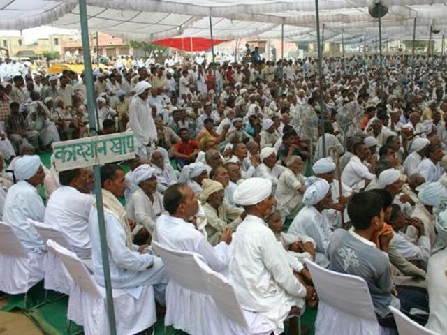 A file photo of a khap panchayat meeting held in Jhajjar district of Haryana.