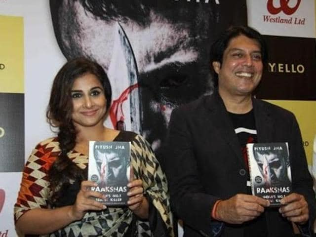 Piyush Jha with Vidya Balan at the book launch of Raakshas.(YouTube)