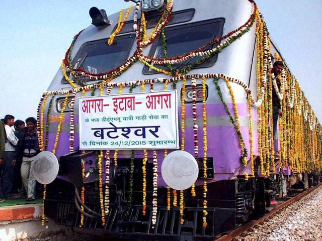 A new train from Bateshar in Bah tehsil of Agra district, ancestral village of Vajpayee, to Etawah was launched on Thursday to commemorate former prime minister Atal Bihari Vajpayee's birthday.