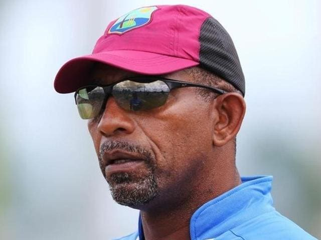 West Indies head coach Phil Simmons during nets ahead of the second Test match against Australia.