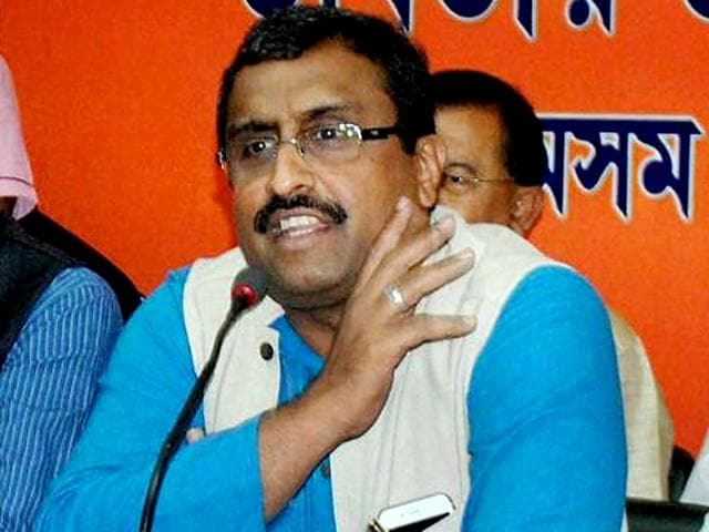 Madhav is a BJP general secretary as well as a national executive member of the RSS.