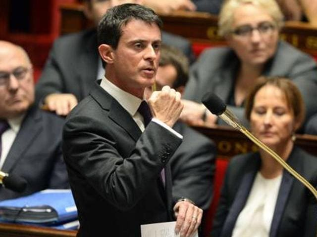"""France's prime minister, Manuel Valls, called Friday for respect for French law after """"the intolerable aggression toward firefighters and unacceptable profanation of a Muslim place of prayer."""""""