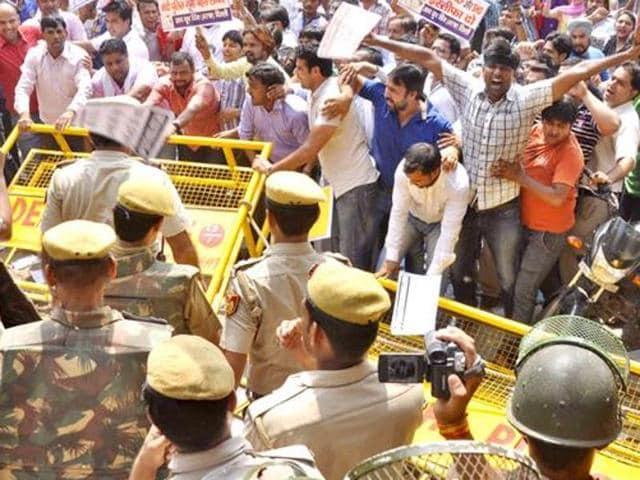AAP,Arun jaitley,AAP workers protest
