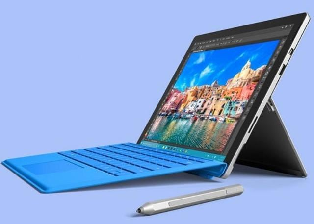 Microsoft's Surface line of hybrid tablets didn't take off in the beginning, but by the 4th version (above), Microsoft had a winner on its hands.