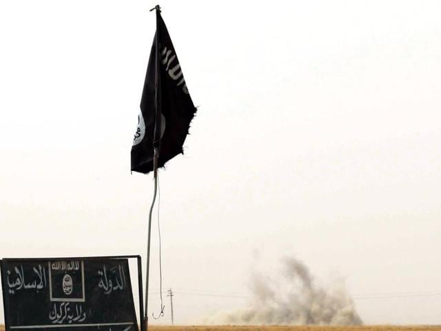 Image of  ISIS flag.