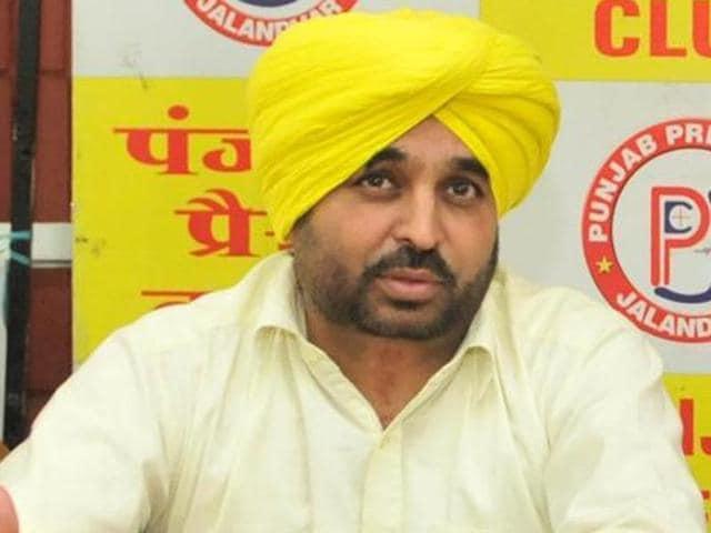 Aam Aadmi Party (AAP) MP Bhagwant Mann
