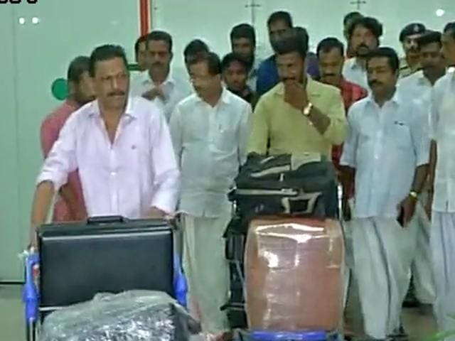 Three men from Kerala, who were allegedly tortured by their employers inSaudi Arabia, returned to India on December 26, 2015, after intervention by Sushma Swaraj, Union external affairs minister.