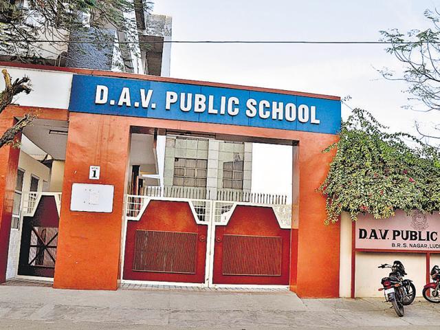 A view of closed DAV Public school at BRS Nagar in Ludhiana on Saturday December 26, 2015.
