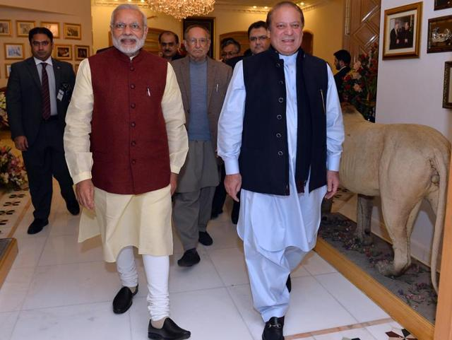 """While the Congress attacked PM Modi for his """"attempt to grab the headline"""" by meeting Nawaz Sharif in Lahore, rivals like the CPIM, CPI, National Conference and even Kashmiri separatists welcomed the move."""
