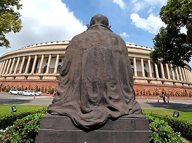 Opposition members protest in the Rajya Sabha during the Winter session. The Parliament session has produced very little and nothing much has been resolved in terms of differences on legislation or perception.