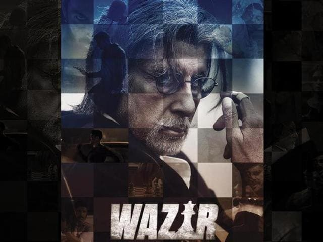 Amitabh Bachchan in the Wazir poster. Wazir is directed by Bejoy Nambiar.