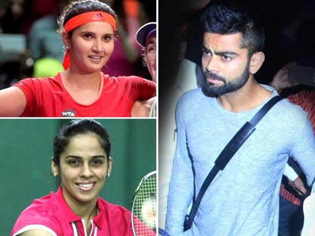 Tennis star Sania Mirza and top shuttler Saina Nehwal ensured that sports other than cricket also had their moments of glory as they geared up for next year's Olympics in a low-key 2015.