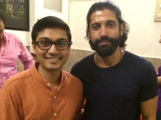 Deepak Ramola with Farhan Akhtar.
