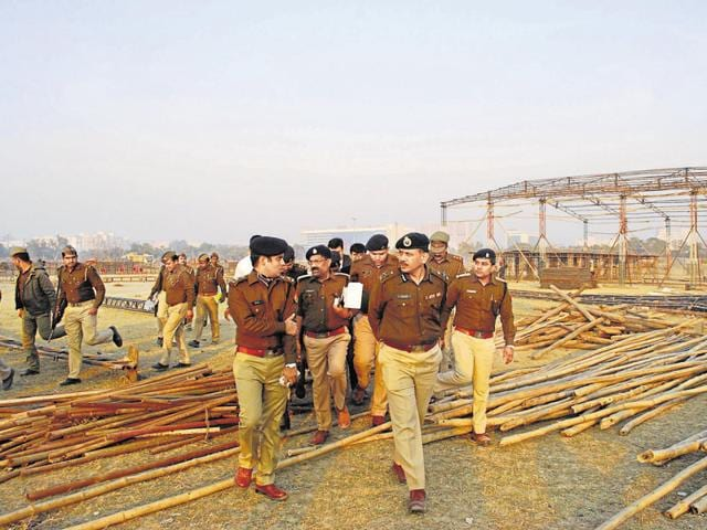 Ahead of the PM's visit, inspector general of Meerut zone, Alok Sharma, and other police officers visited the meeting venue at Sector 62 on Saturday.