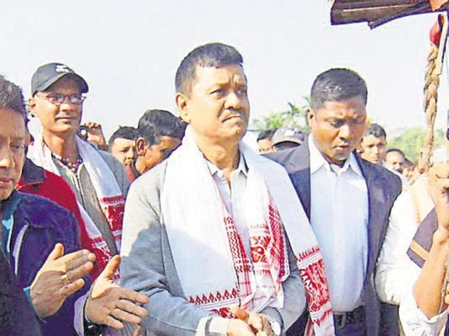 United Liberation Front of Asom (Ulfa) general secretary Anup Chetia being welcomed by local people after he was released from Guwahati central jail in Nagaon in Friday.
