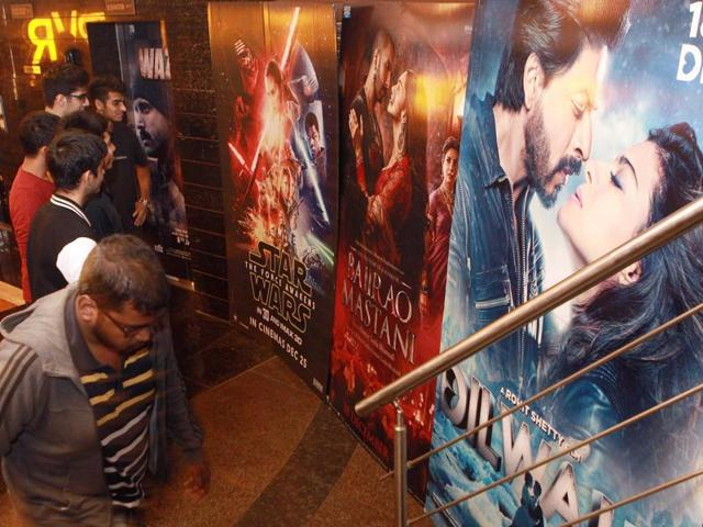 Audience at the PVR multiplex at Citi Mall in Mumbai.(Pratham Gokhale/ Hindustan Time)