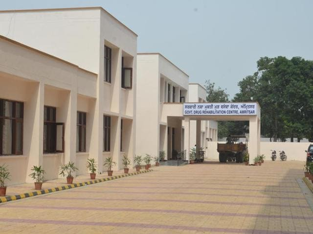A view of the deserted look of Government Drug Rehabilitation Centre in Amritsar on Sunday.