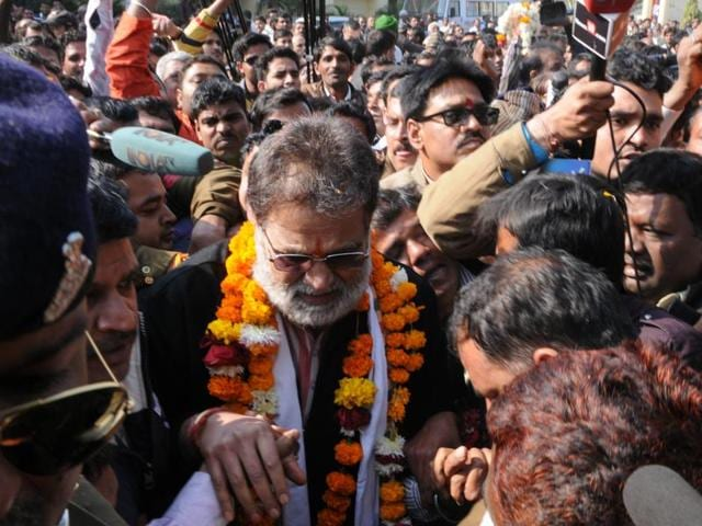 Though Shrama, who had left the BJP after his arrest, has dropped enough hints about his comeback plan, the party leadership doesn't seem to be in a hurry.(Praveen Bajpai/HT photo)
