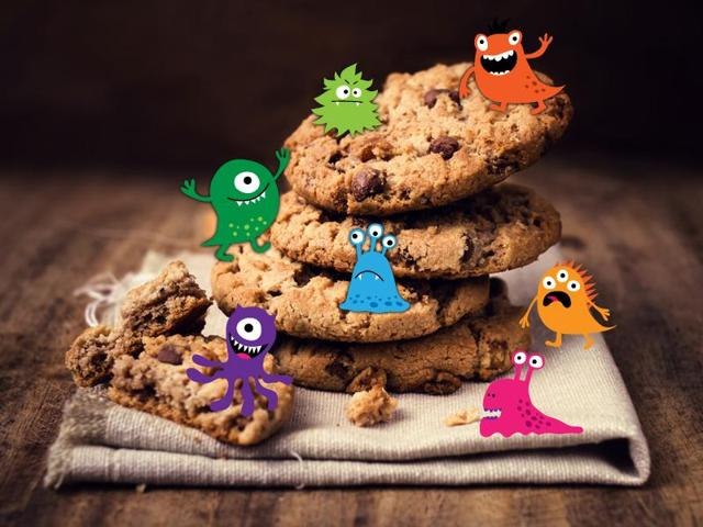 Pathogens, like salmonella, can survive for at least six months in cookies and sandwich crackers, new research has found.
