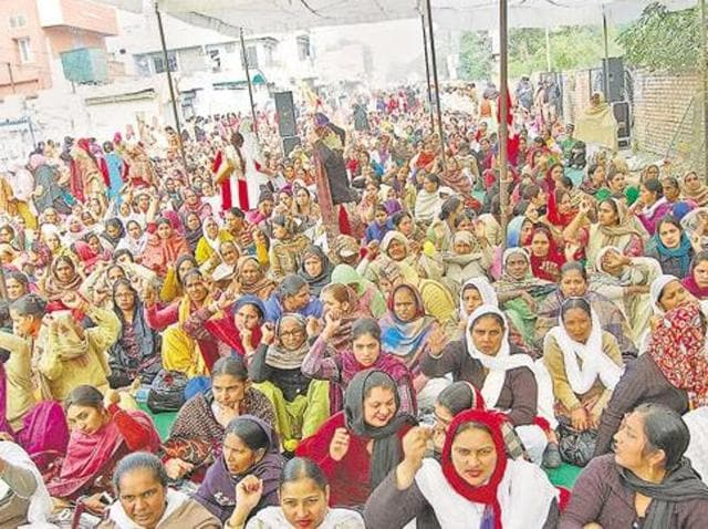 Punjab chief minister Parkash Singh Badal on Monday allowed medical leave for one month along with pay as a welfare measure to anganwadi workers, conceding to their long ending demand.