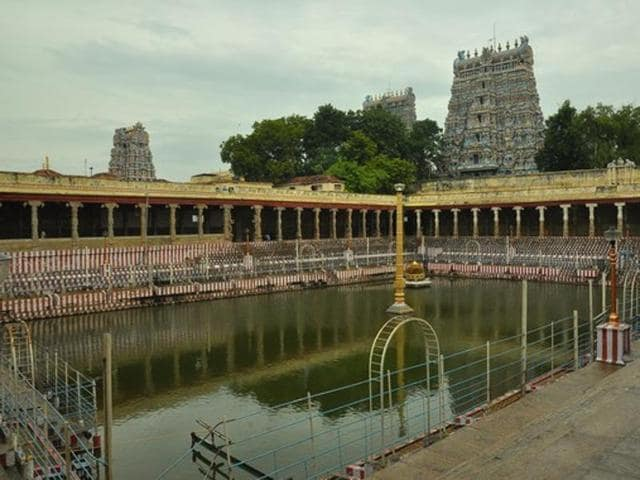 Photo of Meenakshi Temple, Madurai. A  circular has said that from January 1, 2016, people dressed in jeans, skirts and leggings won't be allowed to enter temples.