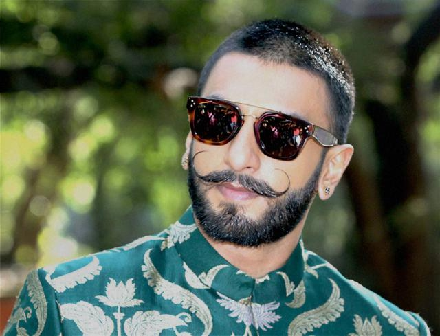 Mumbai: Actor Ranveer Singh during the promotion of his film Bajirao Mastani on a TV show in Mumbai on Monday. PTI Photo(PTI12_8_2015_000114A)