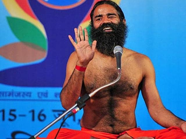 Yoga guru Ramdev expressed inability in visiting Jawaharlal Nehru University where he was invited to give a keynote address amid protests from a group of students.(HT File Photo)