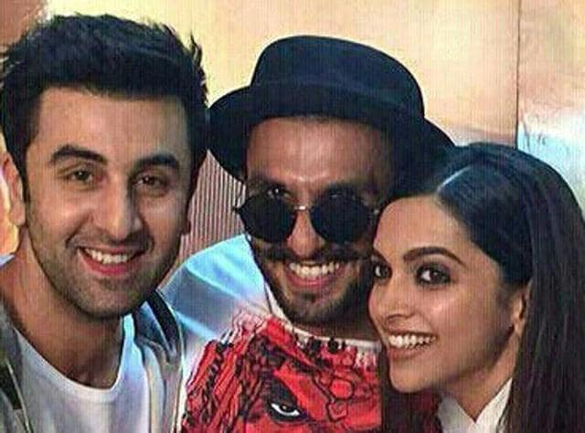 Ranveer Singh dropped by when Ranbir Kapoor and Deepika Padukone were promoting their film Tamasha. According to reports, the trio had a blast together.
