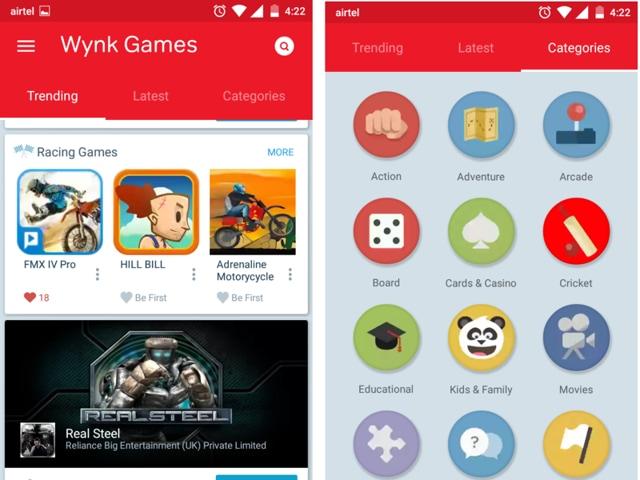 Wynk,Airtel,Games