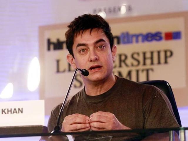 Aamir Khan at HTLeadership Summit 2014. (HT)