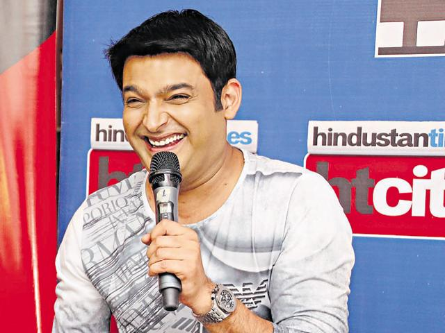 Indian comedian and actor Kapil Sharma during an exclusive interview with HT City- Hindustan Times to promote his upcoming movie Kis Kisko Pyaar Karu.