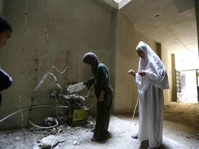 Syrian war,Displacement,Damascus