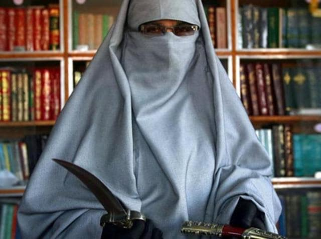 Dukhtaran-e-Millat chief Asiya Andrabi.