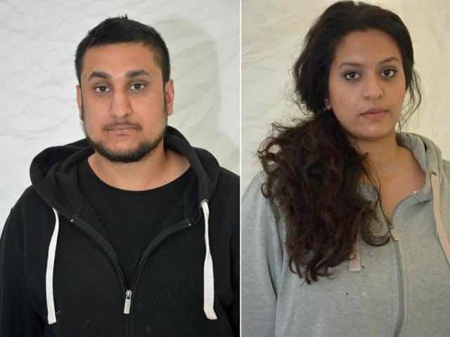 A combination of two undated handout pictures retrieved from the Thames Valley Police website shows  Mohammed Rehman and Sana Ahmed Khan, who were convicted of preparing for acts of terrorism.