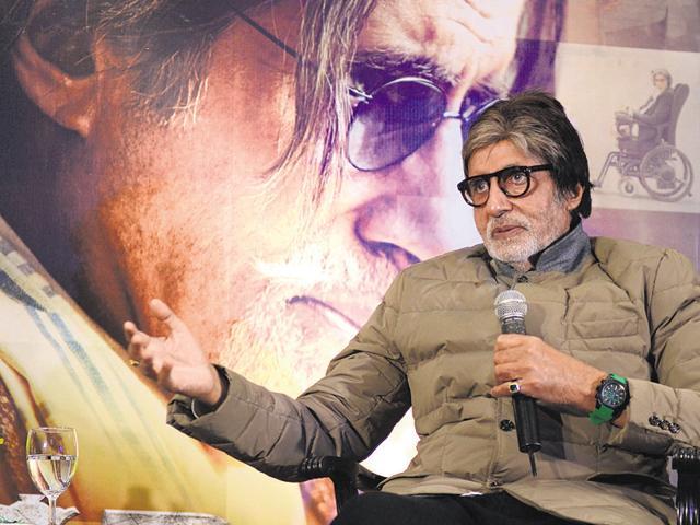 Amitabh Bachchan is gearing for his next starring Farhan Akhtar and Aditi Roa Hydari. He is currently shooting for his next, TE3N in Kolkata.(Prateek Choudhury/HT)