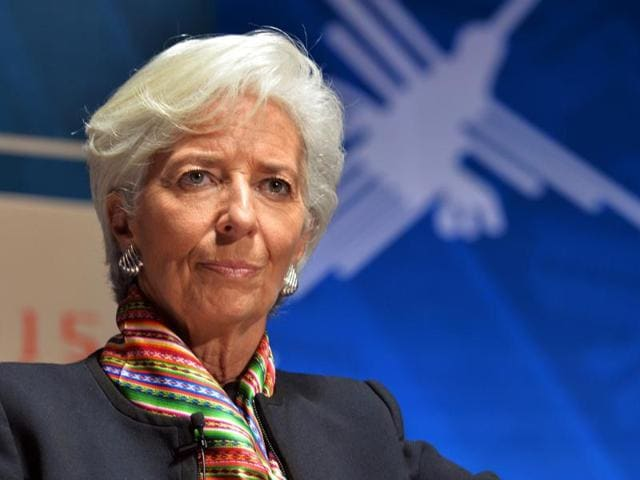"""In an article in German newspaper,IMFchief Lagarde wrote, the rising interest rates in the United States, the economic slowdown in China, the persistent fragility of the financial system in a number of countries and the effects of low oil prices on producer countries """"all mean that global growth in 2016 will be disappointing and patchy""""."""