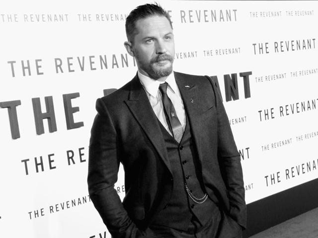 Actor Tom Hardy arrives at the premiere of The Revenant. The actor may star in Christopher Nolan's next based on  a true World War II story.