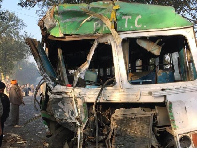 Nakodar,collision,PRTC bus