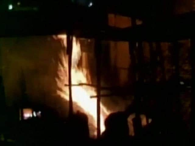 A short-circuit sparked fire in one of the shanties that spread out to nearby huts.