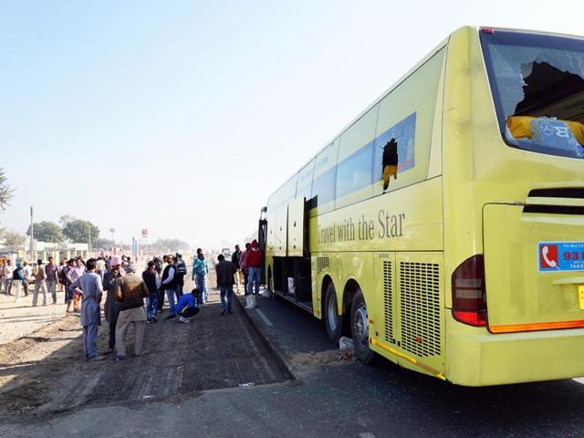 Sukhbir Singh Badal,Dabwali Transport Company,Bathinda-Chandigarh road