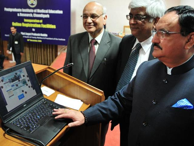 Postgraduate Institute of Medical Education and Research,union health minister,JP Nadda