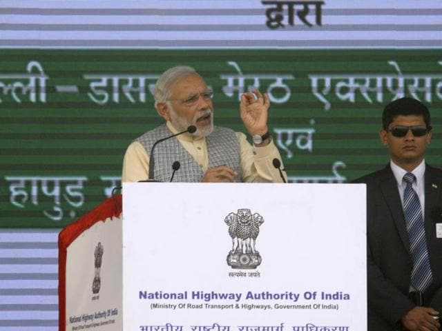 Prime Minister Narendra Modi said the Delhi-Meerut highway project, costing over Rs 7,500 crore, will pave the way for a pollution-free future.