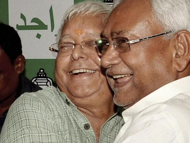 A day after RJD chief Lalu Prasad gave pointers on managing the law and order situation in Bihar to his ally and Bihar CM Nitish Kumar, the CM's party JD(U) asked him to not sermonise on governance issues(PTI)