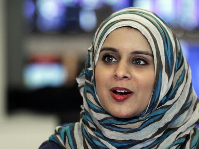 Rana Abdelhamid was attacked in New York when she was 16. She soon started teaching martial arts techniques to other girls. Now that has grown into the Women's Initiative for Self-Empowerment, or WISE, which also teaches leadership and social entrepreneurial skills.(AP photo)