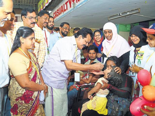 Kerala currently boasts of a robust health record with the lowest infant mortality and highest life expectancy rates in country.(HT photo)