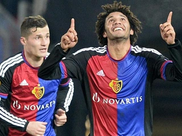Basel's Mohamed Elneny (R)is the main transfer target for Arsenal in January.