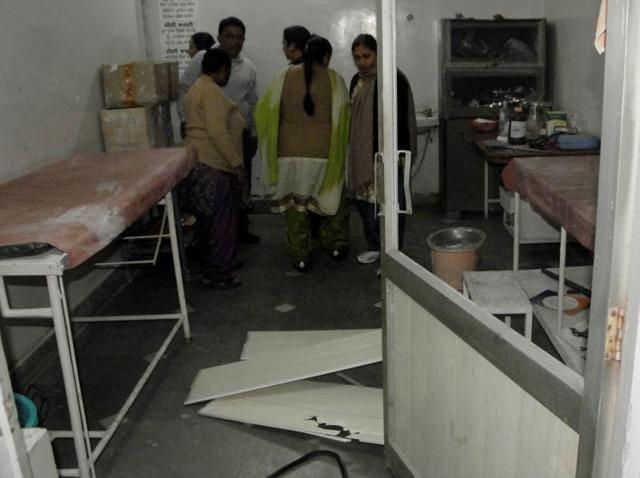 Kin of deceased woman vandalized furniture at Ram Charitable Hospital in Ludhiana.