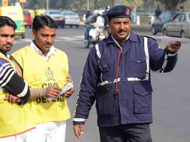 The first prosecution for violating Delhi government's odd-even scheme took place at ITO
